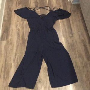 Gianna Bini Mid length Navy Jumpsuit